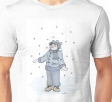 catching snow (colored) Unisex T-Shirt