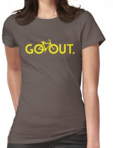 GO OUT (Yellow) Womens Fitted T-Shirt