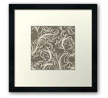 Victorian leaves Seamless pattern Framed Print