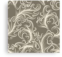 Victorian leaves Seamless pattern Canvas Print