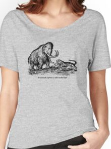Mammoth confronts a sabre-toothed tiger Women's Relaxed Fit T-Shirt