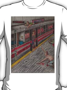 Zombies on the Red Line T-Shirt