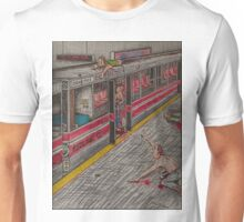 Zombies on the Red Line Unisex T-Shirt
