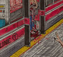 Zombies on the Red Line Sticker