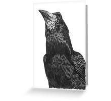 Raven Superhero Doodle Greeting Card