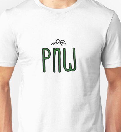 pnw pacific northwest mountains Unisex T-Shirt