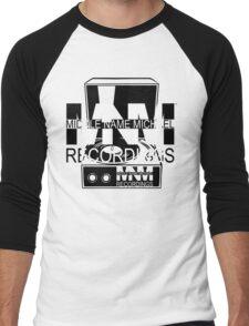 Middle Name Michael Recordings™ (Portable Phonograph) (FFFFFF; 000000) Men's Baseball ¾ T-Shirt