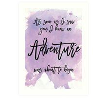 Word Art, Water colours,  Art Print