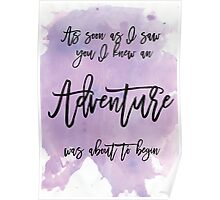 Word Art, Water colours,  Poster