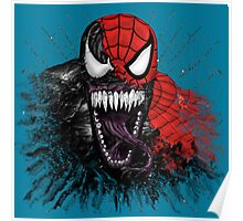 spiderman venom mash up Poster