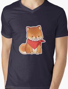 Rude Shiba Dog 3 - Chuchuw Mens V-Neck T-Shirt