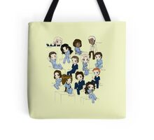 Grey's anatomy- cartoon cast Tote Bag