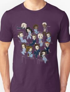 Grey's anatomy- cartoon cast Unisex T-Shirt