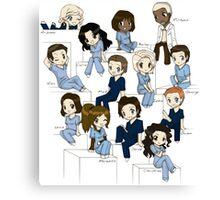 Grey's anatomy- cartoon cast Canvas Print