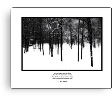 Deep Roots Poster, quote from Tolkein Canvas Print