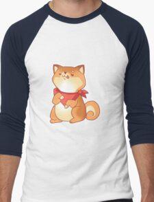 Rude Shiba Dog 2 - Food Consumed Men's Baseball ¾ T-Shirt
