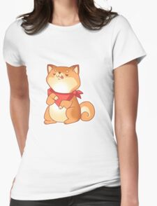 Rude Shiba Dog 2 - Food Consumed Womens Fitted T-Shirt