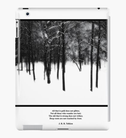 Deep Roots Poster, quote from Tolkein iPad Case/Skin