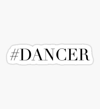 Dance Dancer Sticker
