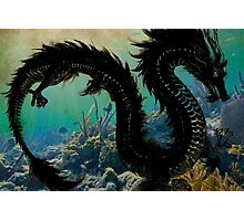 Underwater Dragon Parchment Photographic Print