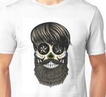 Sugar skull with beard Unisex T-Shirt