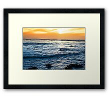 calm reflections at rocky beal beach Framed Print