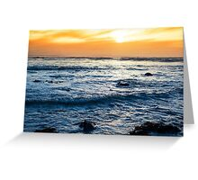 calm reflections at rocky beal beach Greeting Card