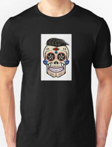 Sugar skull with hair Unisex T-Shirt
