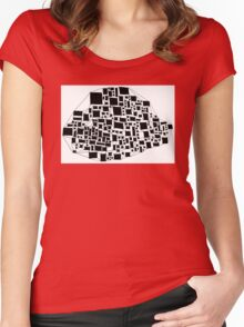 Abstract Study 2 Women's Fitted Scoop T-Shirt