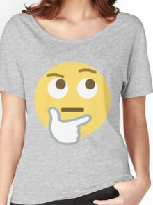 Thinking face emoji Women's Relaxed Fit T-Shirt