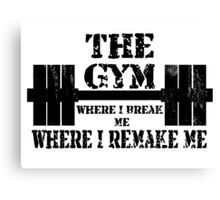 Gym Motivation Canvas Print
