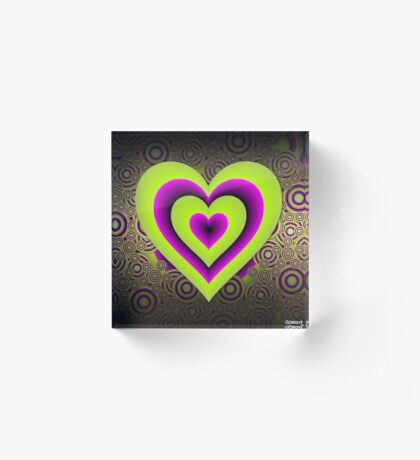 Expanding Heart Acrylic Block