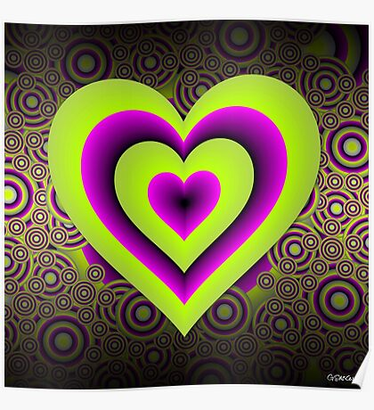 Expanding Heart Poster