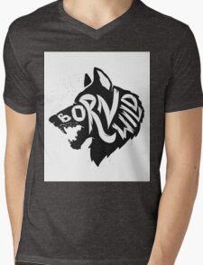 Born Wild Mens V-Neck T-Shirt