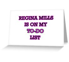 Regina Mills - To-Do List Greeting Card