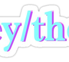 they/them pronouns please! Sticker