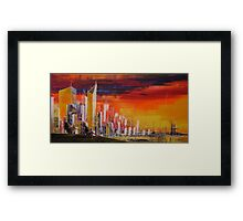 Ride to the city Framed Print