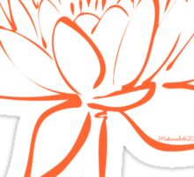 Serenity Tranquility Lotus (Orange) Sticker