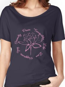 Serenity Tranquility Lotus (Pink) Women's Relaxed Fit T-Shirt