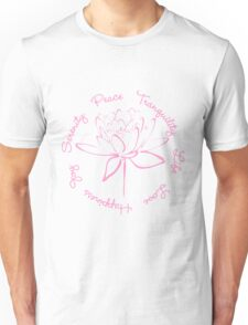 Serenity Tranquility Lotus (Pink) Unisex T-Shirt