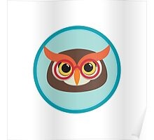 owl head with glasses Poster
