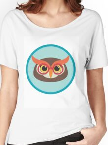 owl head with glasses Women's Relaxed Fit T-Shirt