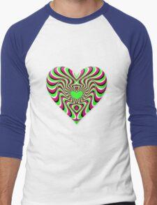 Burning Heart Men's Baseball ¾ T-Shirt