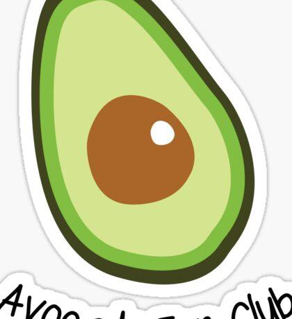 Avocado Fan Club Sticker
