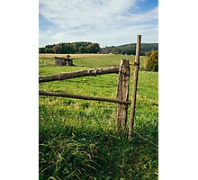 Wooden Meadow Fence Photographic Print