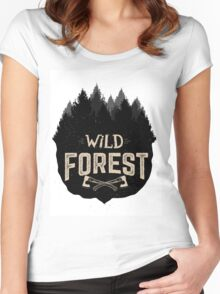 Wild Forest Women's Fitted Scoop T-Shirt