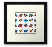 Comic Text seamless pattern. Framed Print