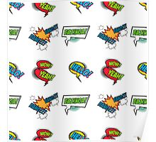 Comic Text seamless pattern Poster