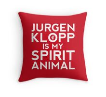Jurgen Klopp is my spirit animal. Throw Pillow