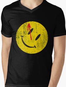 Watchmen Smiley Mens V-Neck T-Shirt